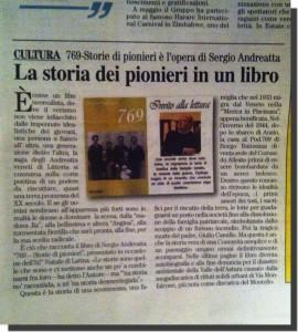 Sergio Andreatta, 769. Storie di Pionieri, Aurore, 2014.