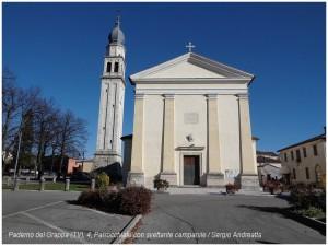 Paderno del Grappa (4), Parrocchiale con svettante campanile