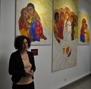 L'artista Giorgia-Eloisa Andreatta