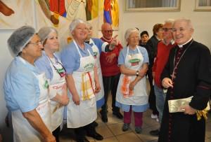 Il Vescovo Crociata ringrazia gli operatori della Mensa Caritas