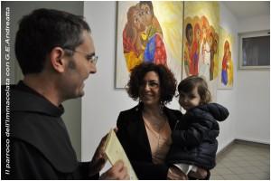 G.E. Andreatta con il parroco dell'Immacolata