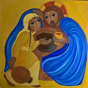Giorgia-Eloisa Andreatta, La Samaritana incontra Gesù al pozzo di Sicar