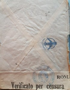 Ala Littoria e censura sulla posta del sottotenente italo-inglese Albino Antonelli.